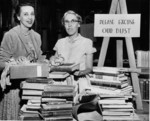(Thumbnail) Niagara Falls Public Library during renovations 1955, Eileen Weber Chief Librarian, Helen Lothian (image/jpeg)