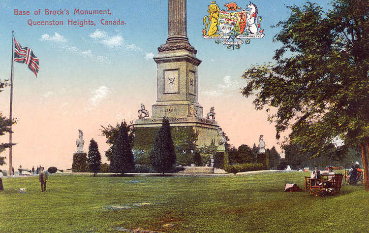 Base of Brock's Monument, Queenston Heights, Canada (image/jpeg)