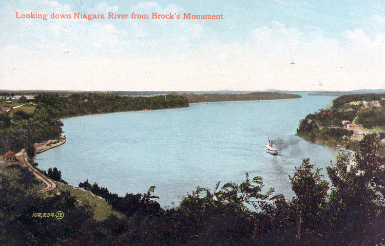 Looking down Niagara River From Brock's Monument (image/jpeg)