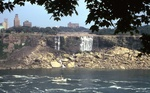 (Thumbnail) Dewatered American Falls From the Canadian Side With Maid of the Mist (image/jpeg)