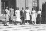 (Thumbnail) Max Gray General Manager of the Niagara Parks Commission 1941 - 1968, with the secretarial staff  (image/jpeg)