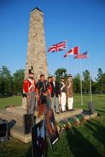 (Thumbnail) Battle of Chippawa Commemorative Service, 2011 - Contingent at Monument after Ceremony (image/jpeg)