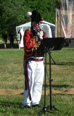 (Thumbnail) Battle of Lundy's Lane 199th Anniversary - Hear the Cannons Roar 3 - Master of Ceremonies Don Jackson as General Drummond (image/jpeg)