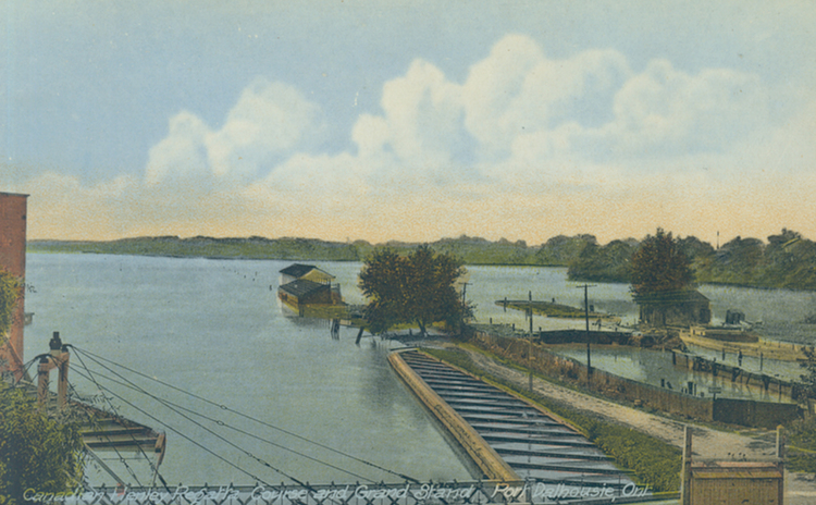Canadian Henley Regatta Course and Grand Stand Port Dalhousie Ont [Ontario] (image/jpeg)