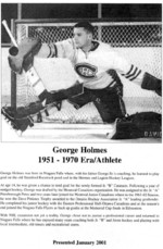 (Thumbnail) Niagara Falls Sports Wall of Fame - George Holmes Athlete Hockey 1951 - 1970 era (image/jpeg)