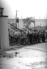 (Thumbnail) Cyanamid Swimming Pool - eager swimmers waiting for the gates to open (image/jpeg)