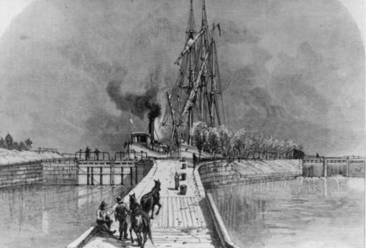 Lock One of the old Welland Ship Canal in Port Dalhousie (image/jpeg)