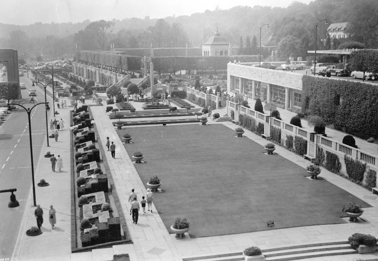 Aerial View Of Union Bus Terminal And Gardens And Oakes