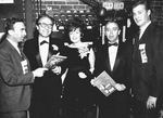 (Thumbnail) Backstage at a Show - David Webster (Left), British and Canadian actor Barry Morse, his wife Sydney Sturgess, unknown man and George Strath (Right) (image/jpeg)
