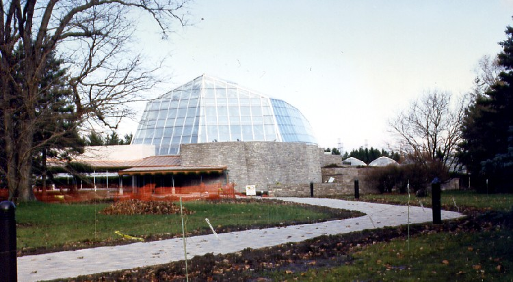 Niagara Parks Commission Butterfly Conservatory - construction site nearing completion (image/jpeg)