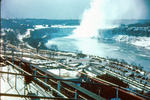 (Thumbnail) Construction of the Rainbow Bridge - Horseshoe Falls and the Niagara River in background (image/jpeg)