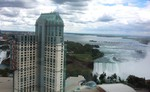 (Thumbnail) Aerial View of the Niagara Fallsview Casino Resort, the Upper Niagara River and the Horseshoe Falls (image/jpeg)