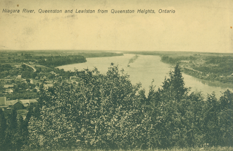 Niagara River, Queenston and Lewiston, From Queenston Heights, Ontario (image/jpeg)
