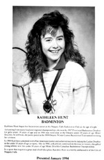 (Thumbnail) Niagara Falls Sports Wall of Fame - Kathleen Hunt Athlete Badminton era 1971 - 1990 (image/jpeg)
