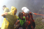 (Thumbnail) Lori Martin who went over Falls in a barrel with Steven Trotter being rescued (image/jpeg)