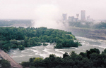 (Thumbnail) Aerial View of Goat Island and the Skyline of Niagara Falls, Ontario (image/jpeg)