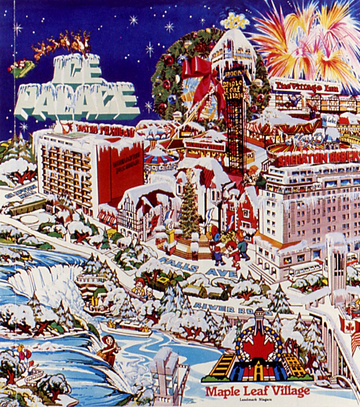 Christmas advertising poster for Maple Leaf Village (image/jpeg)