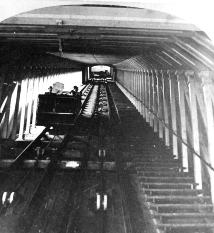 Interior View Of The Incline Railway At Prospect Park
