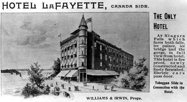 Advertisment from an unknown publication for the Lafayette Hotel (image/jpeg)