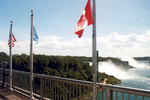 (Thumbnail) American and Horseshoe Falls from the International Boundary point on the Rainbow Bridge (image/jpeg)