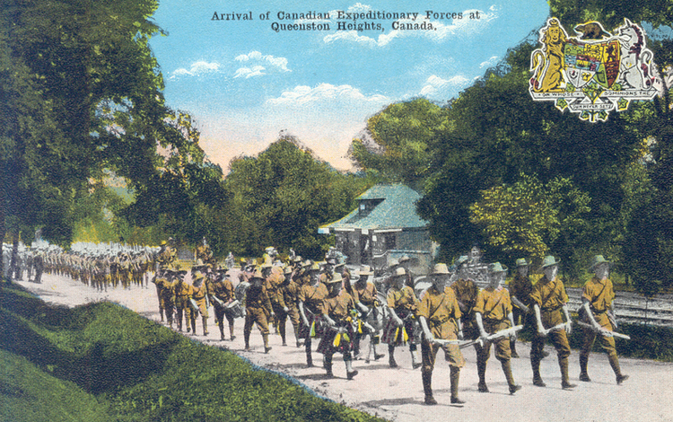 Arrival of Canadian Expeditionary Forces at Queenston Heights Canada (image/jpeg)
