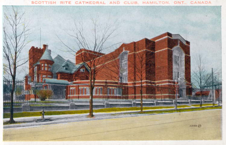Scottish Rite Cathedral And Club Hamilton Ont Ontario Canada Details