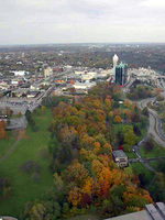 (Thumbnail) Aerial view of Queen Victoria Park and the surrounding area in Fall,  from the Skylon Tower (image/jpeg)