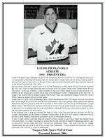 (Thumbnail) Niagara Falls Sports Wall of Fame - Louise Pietrangelo Athlete Women's Hockey 1991 - Present Era