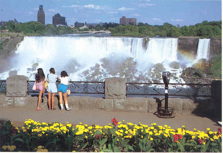 The American Falls from Queen Victoria Park, Canada. (image/jpeg)