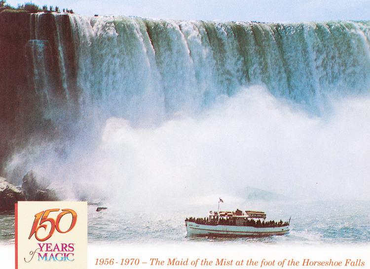 1956- 1970 - Maid of the Mist at the foot of the Horseshoe Falls (image/jpeg)