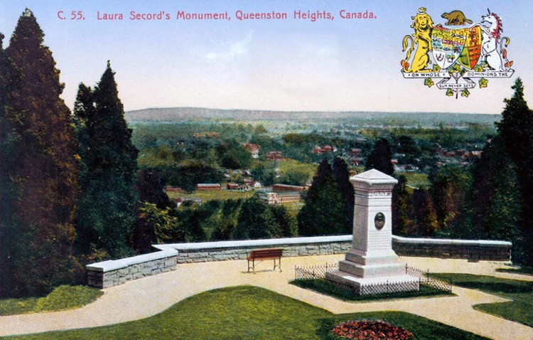Laura Secord's Monument Queenston Heights Canada [Heroine of the Battle of Beaver Dams, War of 1812 - 1814] (image/jpeg)