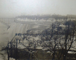 (Thumbnail) Winter view of the American Falls from Goat island, Honeymoon Bridge in background (image/jpeg)