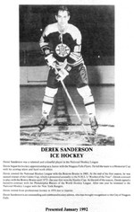 (Thumbnail) Niagara Falls Sports Wall of Fame - Derek Sanderson Athlete Ice Hockey (image/jpeg)