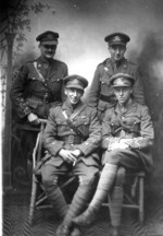 (Thumbnail) Back row left Lieutenant John Joseph (Jack) Vandersluys 3rd Battalion Canadian Expeditionary Force (image/jpeg)