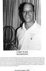 (Thumbnail) Niagara Falls Sports Wall of Fame - Gord Wade Athlete Badminton (image/jpeg)