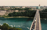 (Thumbnail) Aerial View of the Rainbow Bridge and the Niagara Gorge - Facing American side (image/jpeg)