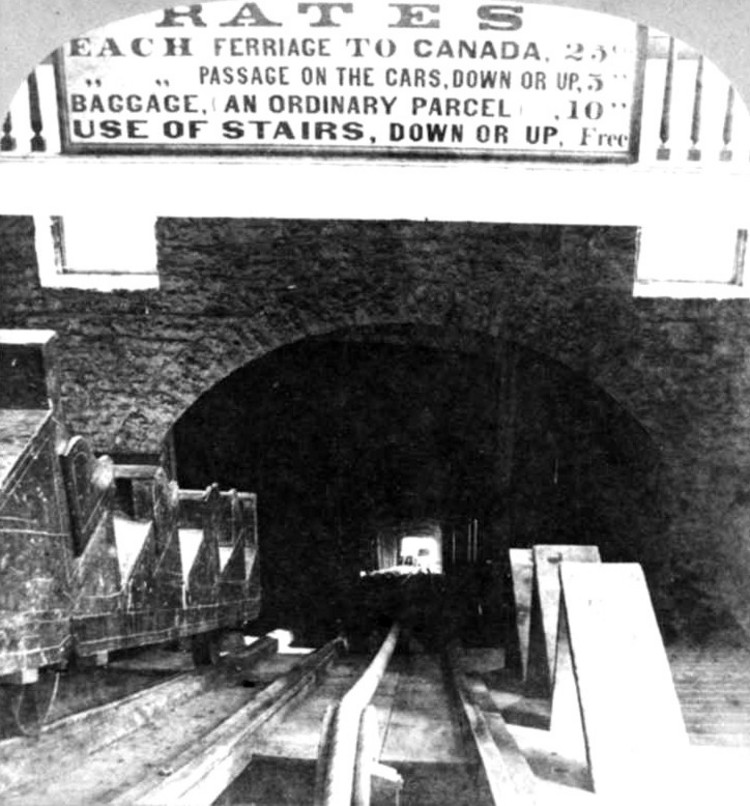 Interior Of Ferry Stairs And The Incline Railway At