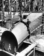 (Thumbnail) Intake pipe for the Toronto Power Plant being built by the Electrical Development Company of Ontario (image/jpeg)