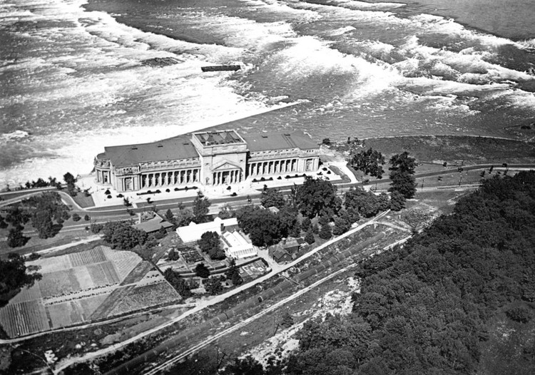 Aerial view of the Toronto Power Plant and the Upper Rapids of the Niagara River (image/jpeg)
