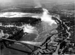 (Thumbnail) Aerial view of the Rainbow Bridge, American and Horseshoe Falls and Upper Niagara River (image/jpeg)
