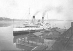 (Thumbnail) Steam ship Chippawa approaching the dock at Lewiston, NY, Canadian shore in background (image/jpeg)