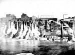 (Thumbnail) Mill district of Niagara Falls, New York, including Jacob Schoellkopf's power generating station, 1880s (image/jpeg)