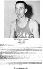 (Thumbnail) Niagara Falls Sports Wall of Fame - Frederick (Fred) Gibbs 1919 - 1981 Athlete era 1931 - 1950 (image/jpeg)
