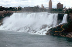 (Thumbnail) American Falls from Canadian Side - Line of Sightseers in Yellow Raincoats (image/jpeg)