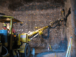 (Thumbnail) Drill being used to make holes for explosives during the Niagara Tunnel Project (image/jpeg)