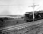 (Thumbnail) Car 584 Queenston-Chippawa Railway going down Queenston Heights grade to the boat dock (image/jpeg)