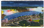 (Thumbnail) American and Canadian [Horseshoe] Falls From Oakes Garden Theatre By Illumination, Niagara Falls, Canada (image/jpeg)