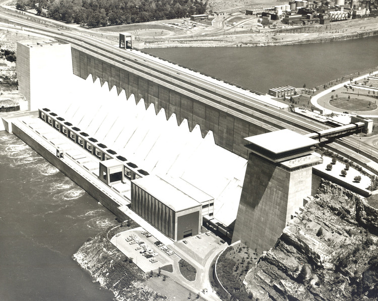 Aerial View of the Robert Moses Power Generating Station and Reservoir, Niagara Falls, N.Y. (image/jpeg)