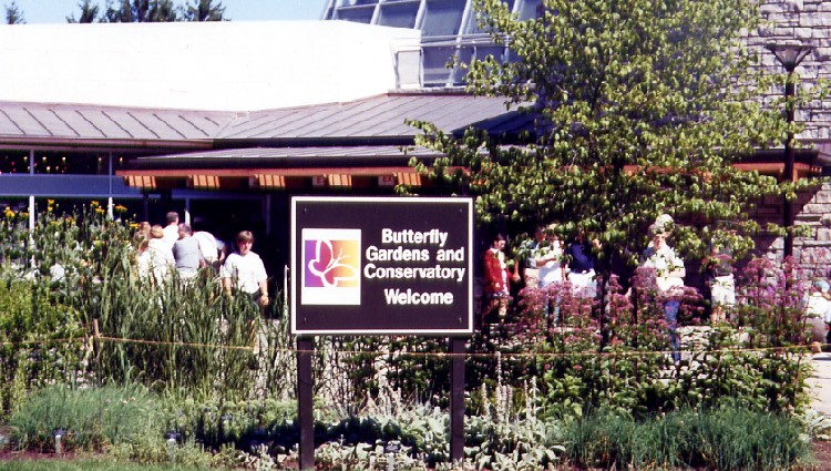 Niagara Parks Commission Butterfly Conservatory - exterior view of entrance (image/jpeg)