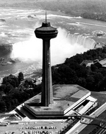 (Thumbnail) Aerial View of the Skylon Tower, the Horseshoe Falls, and the Upper Niagara River Rapids (image/jpeg)